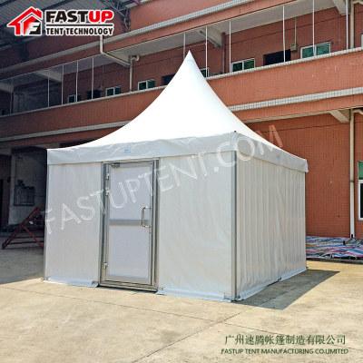 White Aluminum PVC High Peak Pagoda For Party