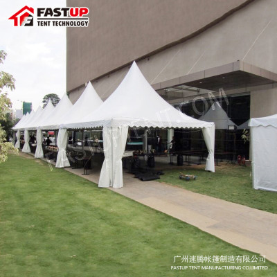 White Aluminum PVC Pagoda For 60 People