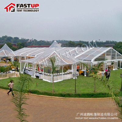 Aluminum PVC Curve Marquee Tent  For Church  500 People Seater Guest