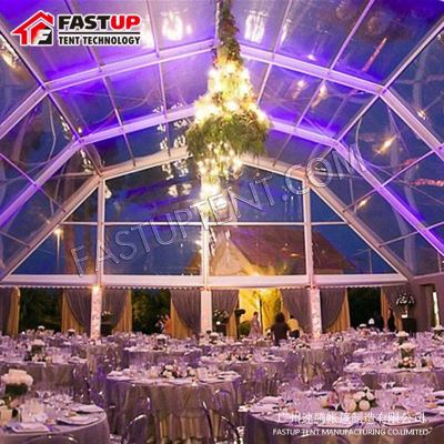 White Polygon Roof Marquee Tent For Catering