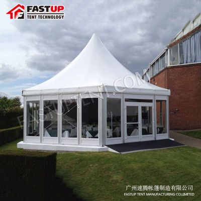 China Manufacturer Aluminum Hexagon Tent For Brand Ceremony