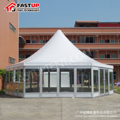 Manufacturer Clear Hexagon Tent For Real Estate Opening