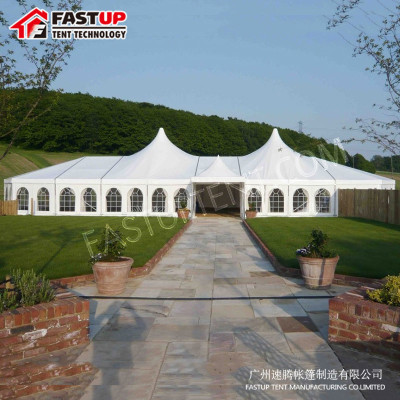 ABS Wall High Peak Mixed Marquee Tent For Exhibition For 300 People Seater Guest