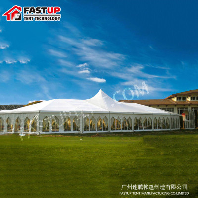 Hard High Peak Mixed Marquee Tent  For Trade Show  For 500 People Seater Guest
