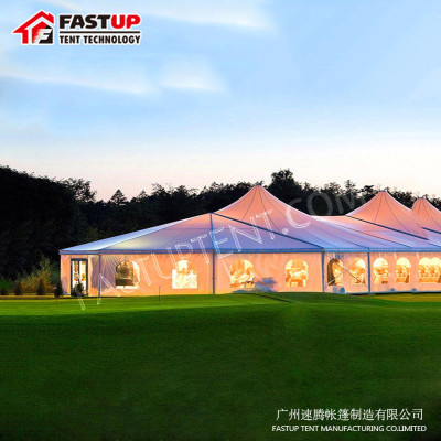 Modular High Peak Mixed Marquee Tent For Festival For 200 People Seater Guest