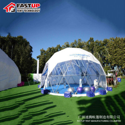 Supplier White Diameter 6M Geodesic Dome Tent Round For Outdoor Party