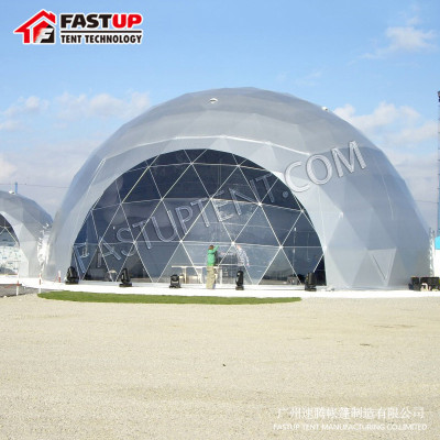 Buy Clear Diameter 25M Geodesic Dome Tent For Marriage