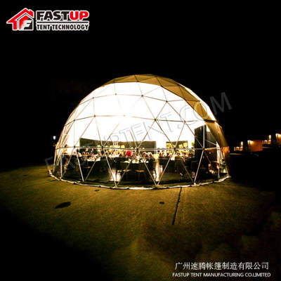 White Diameter 10M Geodesic Dome Tent For Catering