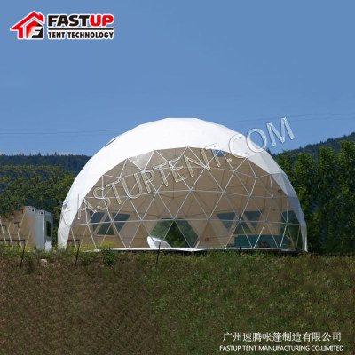 Best Steel Frame Diameter 12M Geodesic Dome Tent For Event