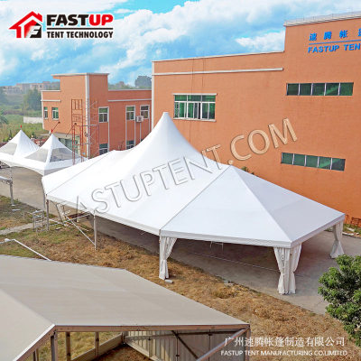 Aluminum High Peak Mixed Marquee Tent For Event For 150 People Seater Guest