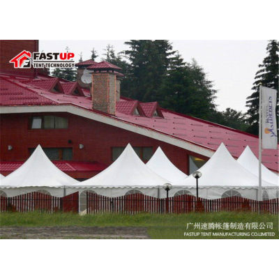 White Aluminum Pvc High Peak Pagoda For 30 People Seater Guest
