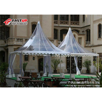 Clear Tent Transparent High Peak Pagoda For 30 People Seater Guest