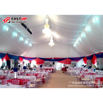 Clear Polygon Roof Marquee Tent For Wedding 200 People Seater Guest