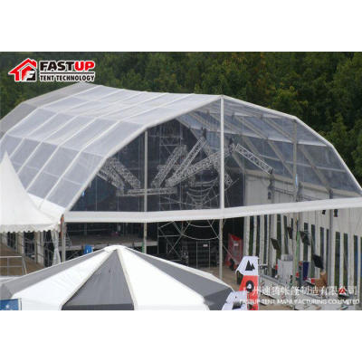 Transparent Polygon Roof Marquee Tent For Trade Show