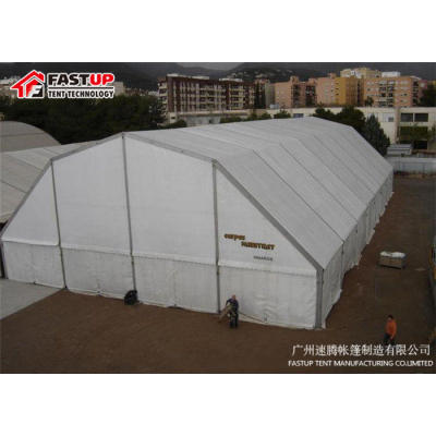 White Polygon Roof Marquee Tent For New Product Show 1000 People Seater Guest