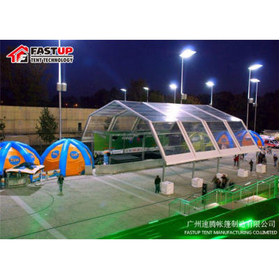 Clear Polygon Roof Marquee Tent For Car Exhibition 900 People Seater Guest