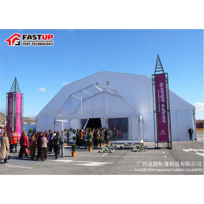 White Polygon Roof Marquee Tent For Brand Ceremony 1000 People Seater Guest