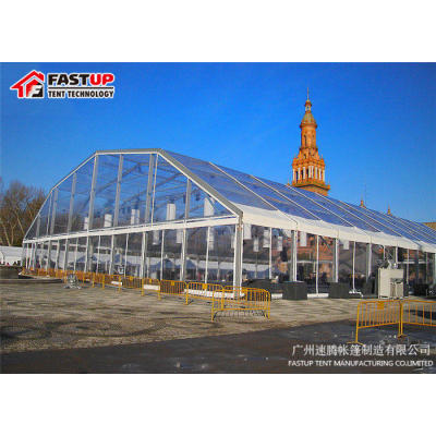 Transparent Polygon Roof Marquee Tent For Car Show 1500 People Seater Guest