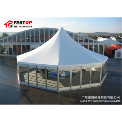 Good Quality Clear Hexagon Tent For Wedding  Diameter  6M 30 People Seater Guest