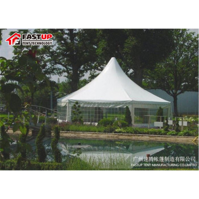 Popular Transparent Hexagon Tent For Party  Diameter  8M 30 People Seater Guest