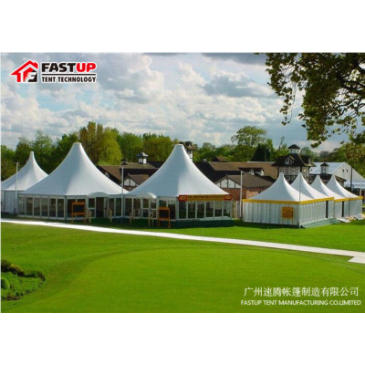 New Design White  Hexagon Tent For Catering  Diameter  8M 50 People Seater Guest