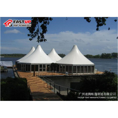 Second Hand Pvc Hexagon Tent For Banquet Hall  Diameter  8M 50 People Seater Guest