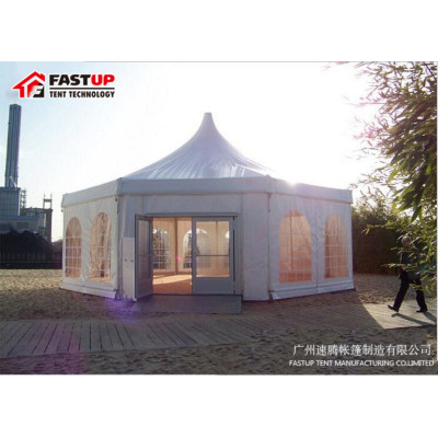 2017 New Clear Top Hexagon Tent For Mecca Hajj  Diameter  10M 100 People Seater Guest