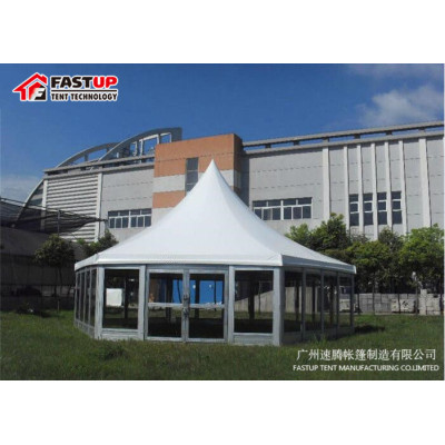 Hot Sale Glass Hexagon Tent For Church  Diameter  12M 200 People Seater Guest