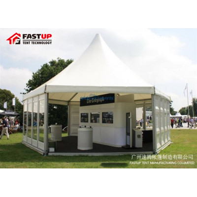 Buy Abs Hexagon Tent For Exhibition  Diameter  12M 150 People Seater Guest