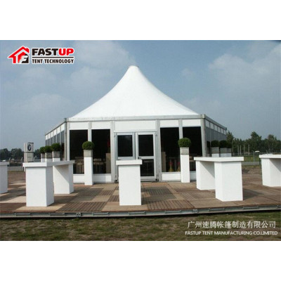 Cheap Price Hard Hexagon Tent For Trade Show  Diameter  10M 100 People Seater Guest