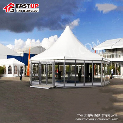 Wholesale White Hexagon Tent For event Diameter 8M 30 People Seater Guest
