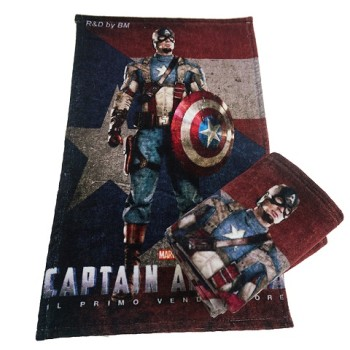 100% cotton digital printing fabric face towel