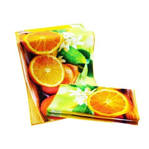 Printed Towel With Orange