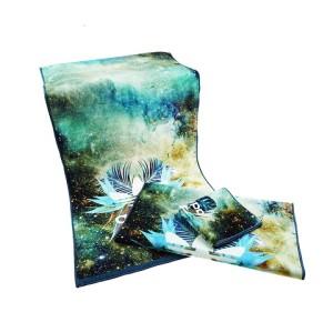 customized 100% cotton digital face printed towel