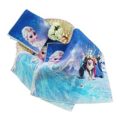 100% cotton Frozen cartoon printed hand towels wholesale