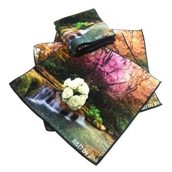 30*30cm custom digital printed cotton hand towel