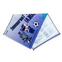 High Quality 100% Cotton Custom Football Printed Velour Face Towel