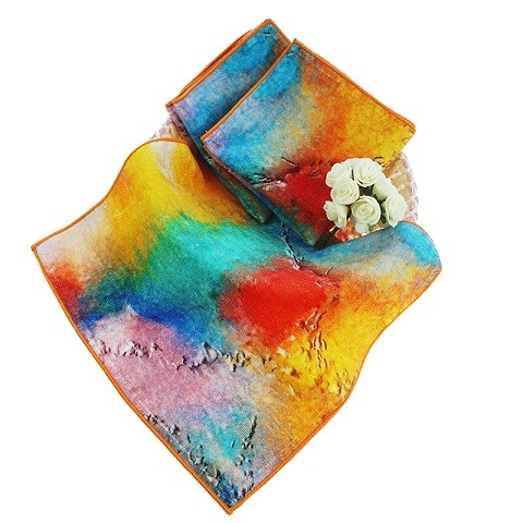 Custom Printed Hot Sale wholesale Square Cotton Hand Towel