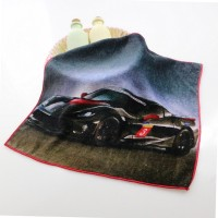 HOT SALE 100% cotton printing kids hand towels cartoon car custom hand towel