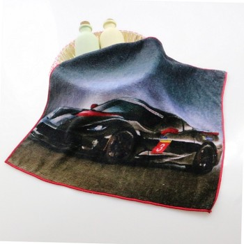 HOT SALE 100% cotton printing kids hand towels cartoon car custom hand towel