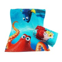 promotion custom face size towel with printing