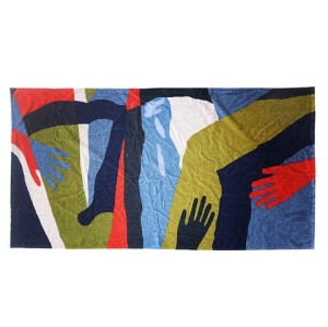 Wholesale high quality 100% cotton custom printed beach towel