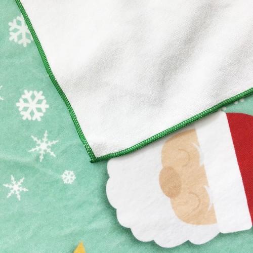 全棉超清4K数码印花浴巾 圣诞风格花型印染大浴巾 支持小批量定制