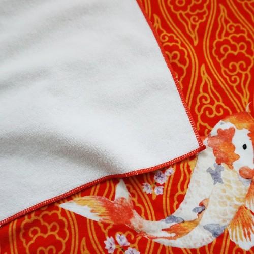 全新纯棉4K超清数码印花浴巾 中国风花型印染浴巾 可批量个性定制