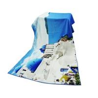 全棉超清数码印花浴巾 海边城堡花型印染大浴巾 可小批量个性定制