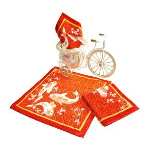 纯棉数码印花方巾 中国风活性印染毛巾 工厂推荐支持个性批量定制
