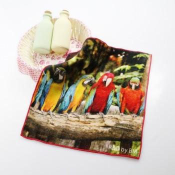 LOGO定制4K真彩印花方巾3D数码喷墨印花毛巾纯棉儿童毛巾推荐批发