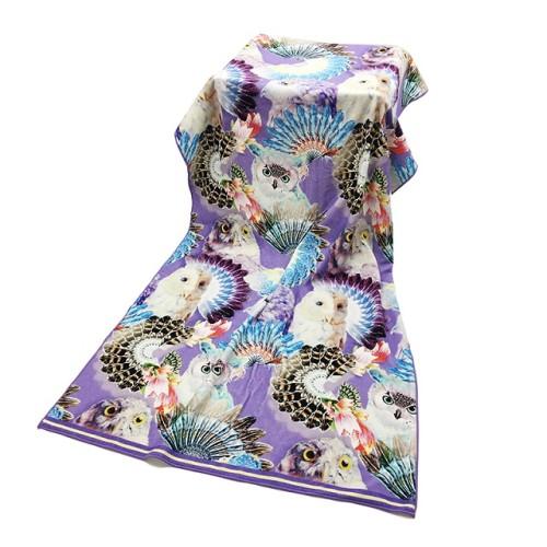 不懒人超清数码印花浴巾 创意动物花型印染大浴巾 支持小批量定制