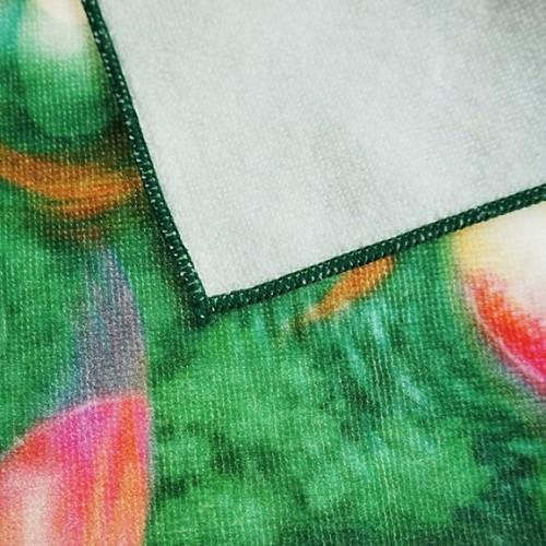 纯棉数码印花小方巾 美人鱼印染小毛巾 工厂推荐支持个性批量定制