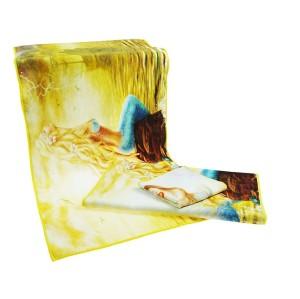 全新4K超清数码印花毛巾 美人鱼系列印染毛巾 支持个性化批量定制